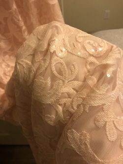 Pink floor length dress- David's bridal new with tags Thumbnail