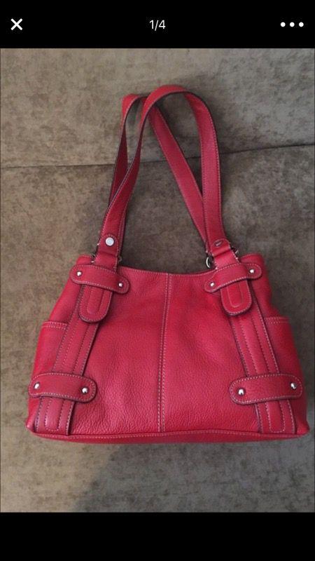 e3ef6f9b405c Red Tignanello leather handbag for Sale in Las Vegas