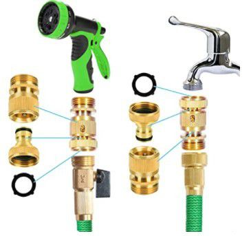 Go About Your Tasks Quickly with NO Leaks! Garden Hose Quick Connect!
