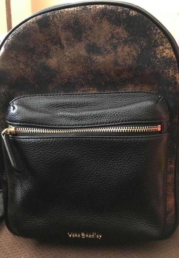 48666dc2d6 Vera Bradley Amy Backpack Indigo Denim W black Leather WOW for Sale in  Miami