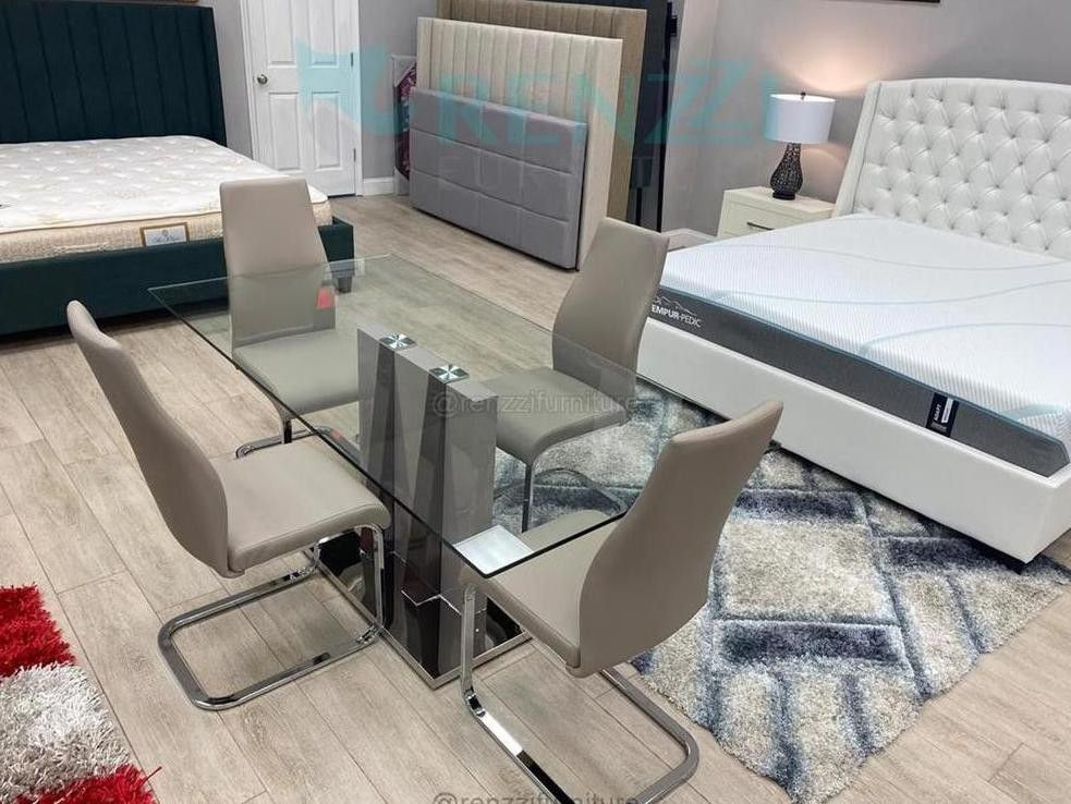 Dining set, tempered glass /*/ Financing Available