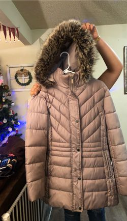 Coat with fur hood. Perfect condition Thumbnail