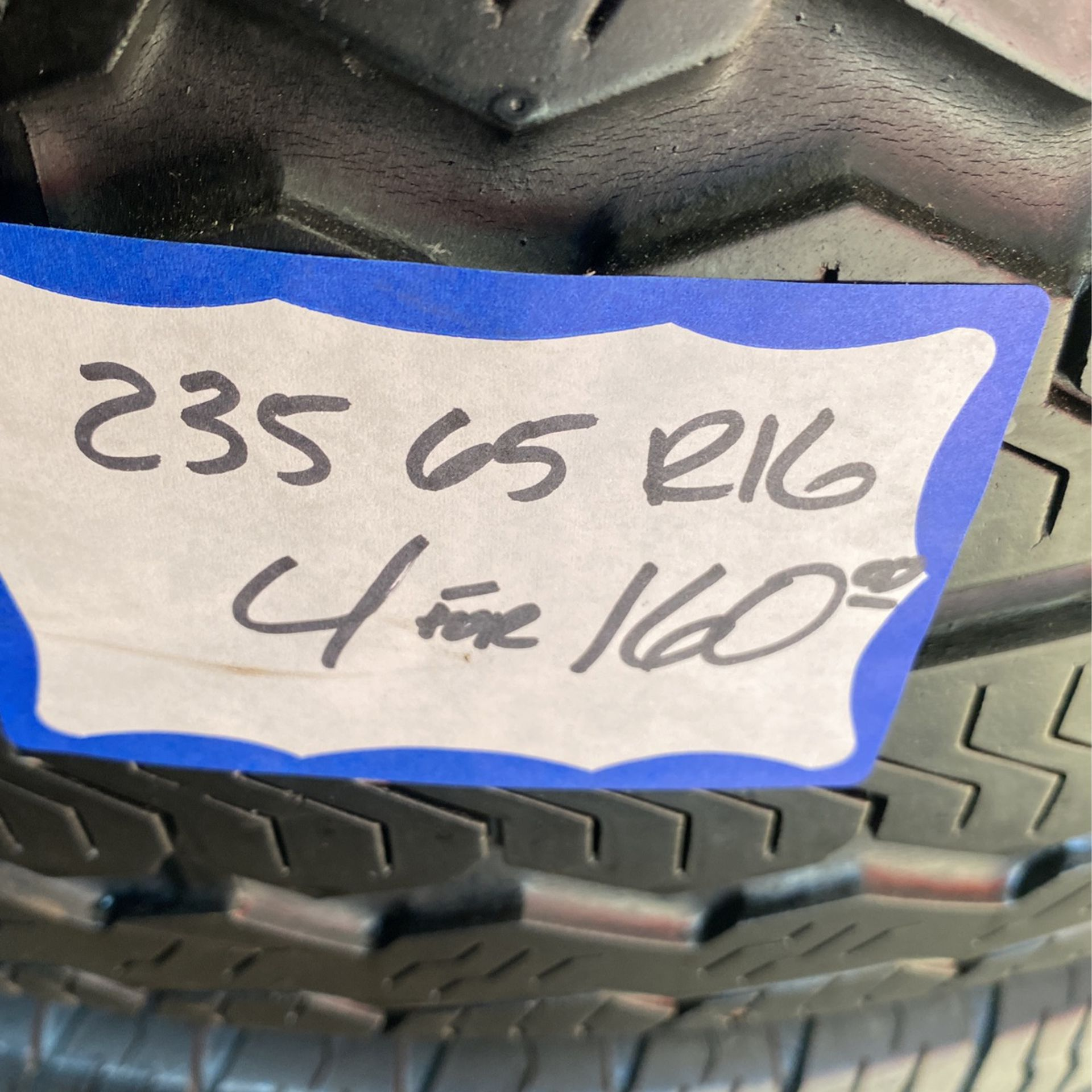 4 Used Tires 235/65/R16