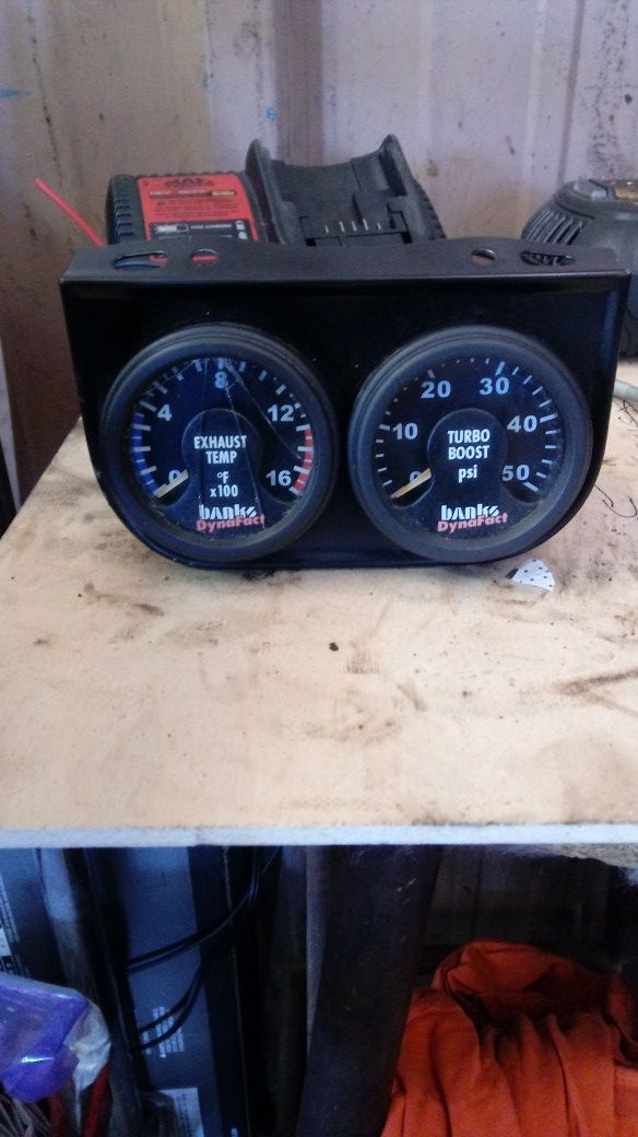 Banks dynofact exhaust temp and boost pressure gauges for Sale in US -  OfferUp