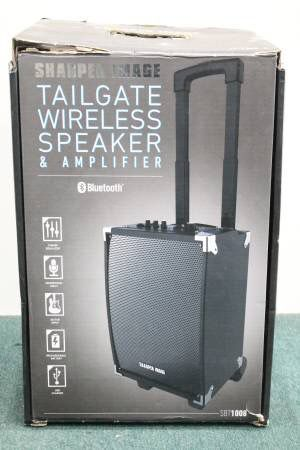 Sharper Image Wireless Speaker And Amplifier Sbt1008 Bluetooth Nice