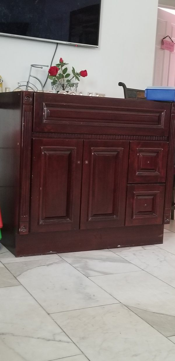 """Bathroom vanity marble top,bottom wood 36""""×34 for Sale in ..."""