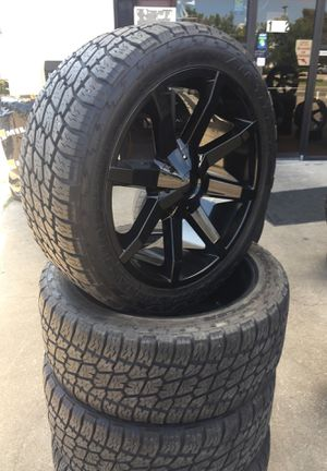 22 inch black off road Dodge Ram 1500 for Sale in Austin, TX