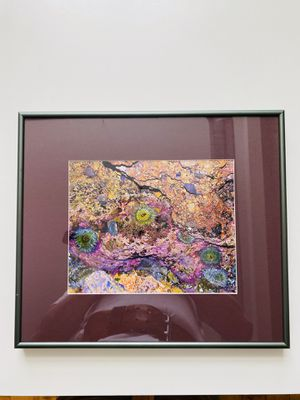 """Photo Antique Stylish Piece of Art. Beautiful colors. Nice solid metal frame. 15.75""""x13.75"""". Like new condition. Frankly, I am selling it for price of the"""