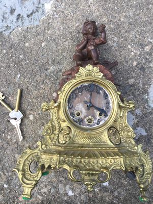 Brass antique Victorian clock for Sale in Stratford, CT