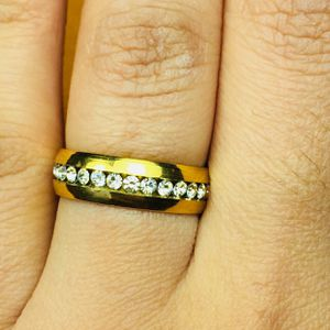 Stainless steel gold Tone ring band unisex size 6 And 10 for Sale in Silver Spring, MD