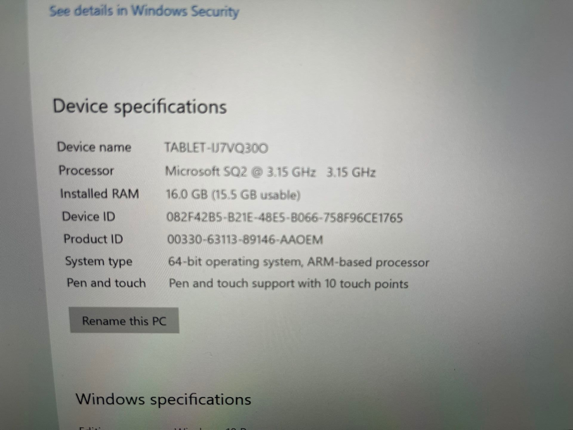 Surface Pro X, SQ2 CPU/16GB/512GB/Cellular LTE/Keyboard/Pen/Warranty+