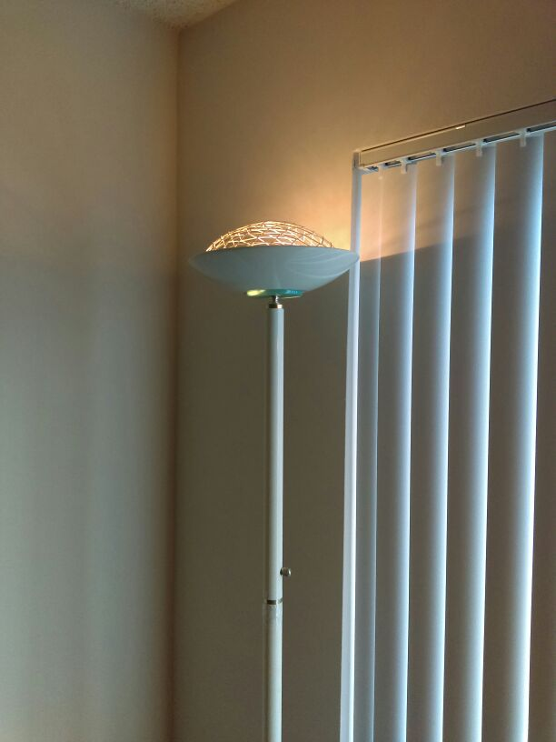 White Floor Lamp Working Great Condition