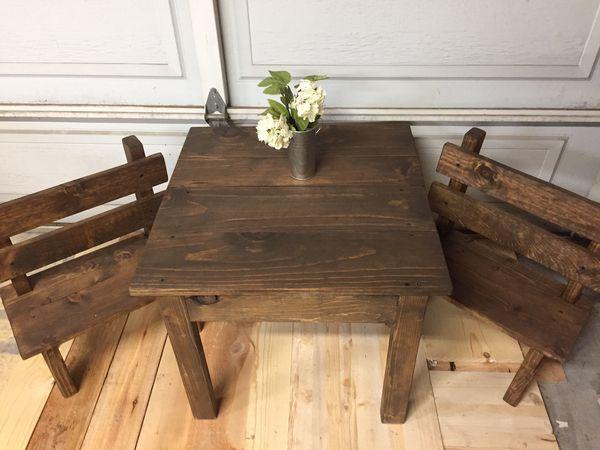 Surprising Kids Table And Bench Set For Sale In Modesto Ca Offerup Creativecarmelina Interior Chair Design Creativecarmelinacom