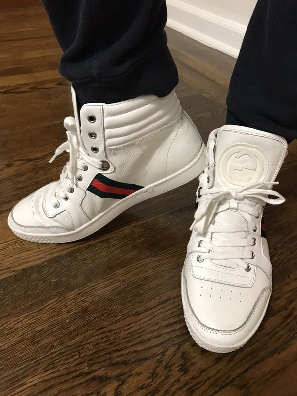 2ef4dfe4b1f Gucci Men White High Top Sneakers Size 44 for Sale in Brooklyn