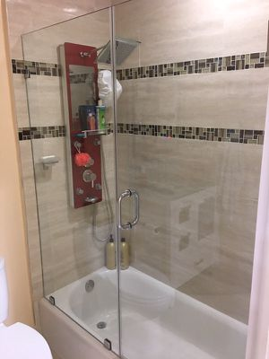 Window Glass Repair Frameless Shower Doors Household In North - Bathroom shower door repair