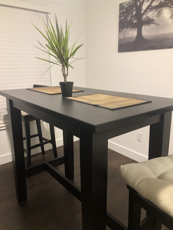Swell Ikea Stornas Bar Table And 2 Ingolf Bar Chairs For Sale In Andrewgaddart Wooden Chair Designs For Living Room Andrewgaddartcom