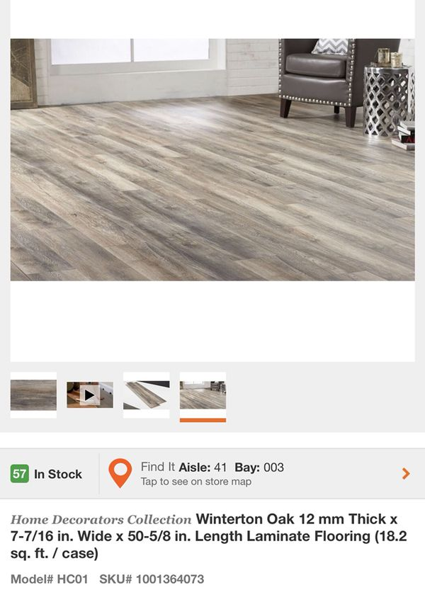 Home Decorators Collection Winterton Oak 12 Mm Thick X 7 16 In Wide 50 5 8 Length Laminate Flooring For Glendale Az Offerup
