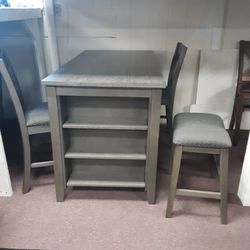 Table With Storage Two Chairs And Two Stools Thumbnail