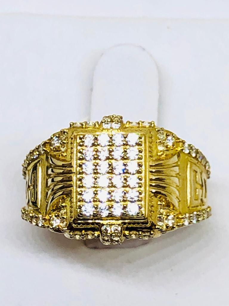 10Kt Real Gold Ring with CZs at sale