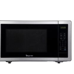 1.1 cu. ft. Countertop Microwave in Stainless Steel with Gray Cavity Thumbnail