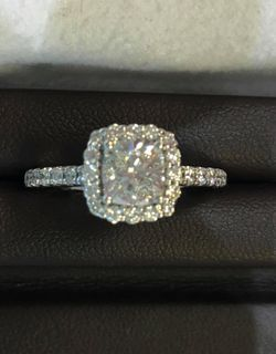14 Kt Diamond Engagement ring 1 1/3 ctw Thumbnail