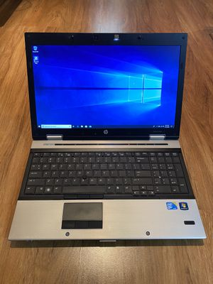 Photo HP EliteBook 8540p core i7 8GB Ram 500GB Hard Drive 15.6 inch LED Screen Windows 10 Pro Laptop with charger in Excellent Working condition!!!