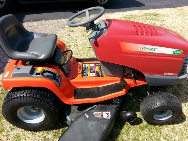 Scotts 17 Hp 42 Riding Lawn Mower For Sale In Marlboro Township NJ OfferUp