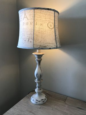 Farmhouse Chic whitewashed lamp for Sale in Atlanta, GA
