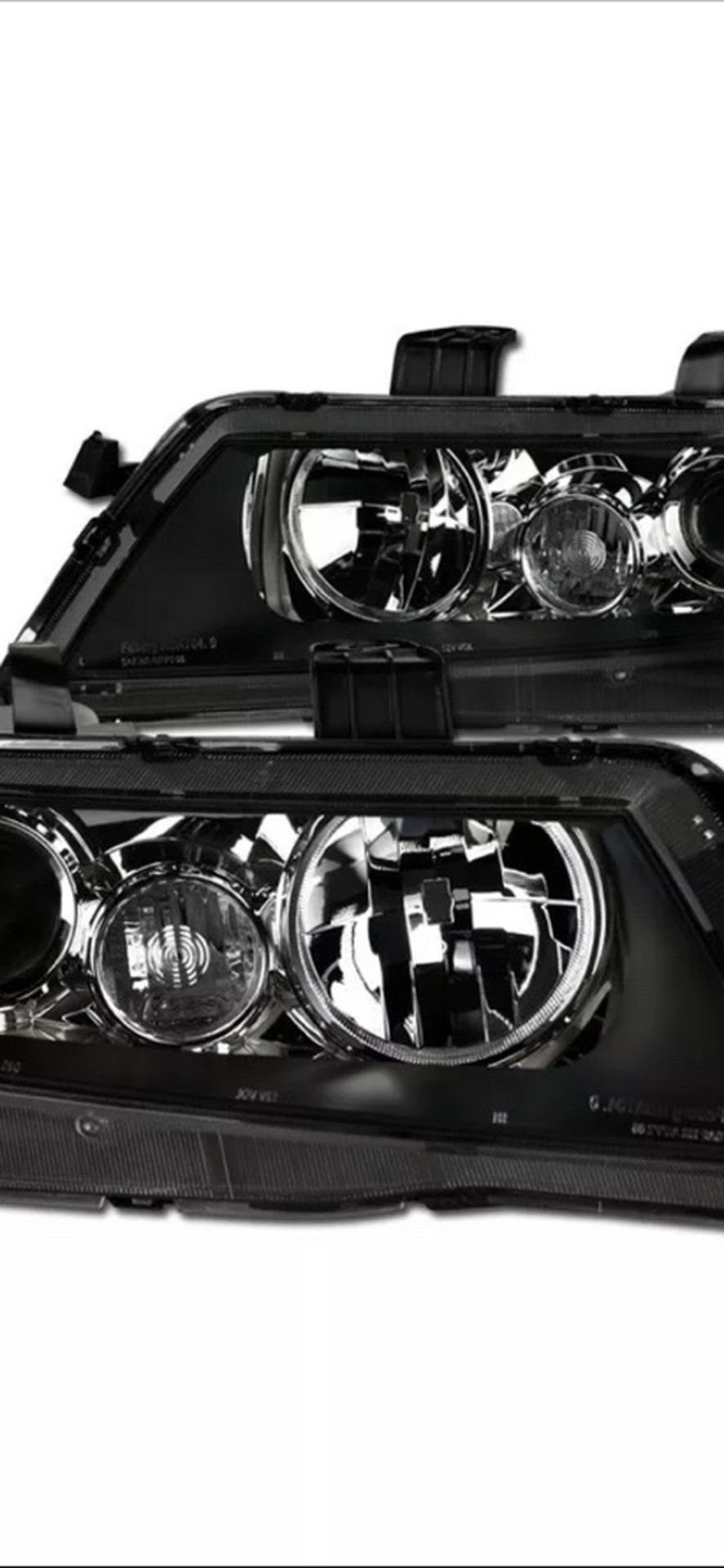 Topline For 2004-2008 Acura TSX JDM Projector Headlights Signal Nb - Black Clear