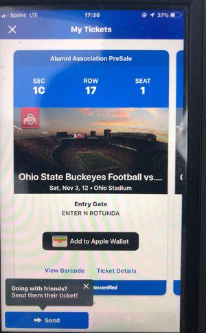 Ohio state VS. Nebraska tickets for Sale in Columbus, OH