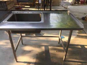 4 foot stainless steel prep sink for Sale in Las Vegas, NV