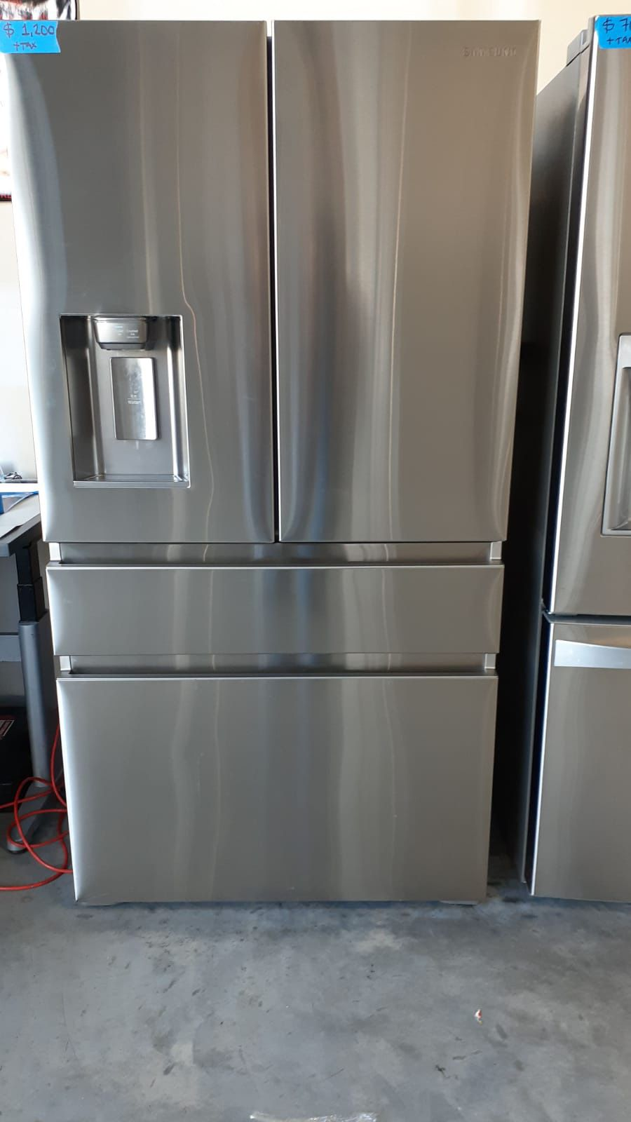SAMSUNG STAINLESS STEEL FRENCH DOORS REFRIGERATOR