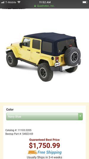 Jeep Premium Black Twill Top 4 door Bestop $1400 brand new for Sale in Chicago, IL