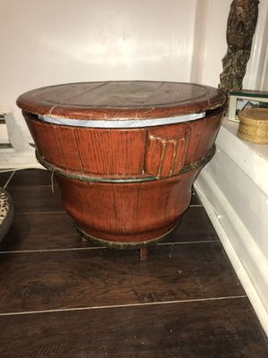 Antique Chinese wooden rice bucket for Sale in Washington, DC