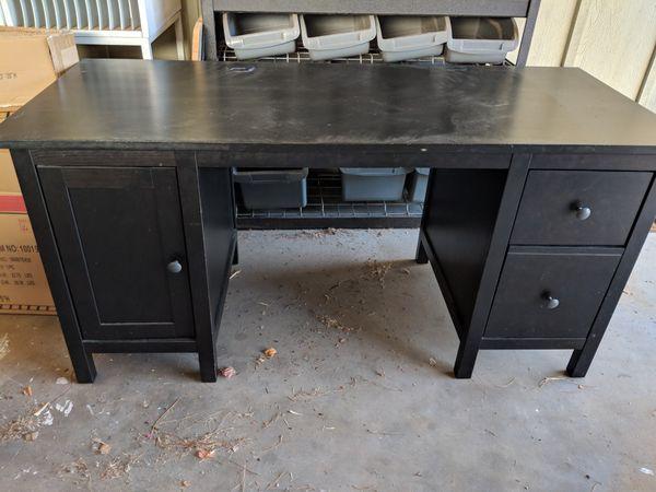 Ikea Hemnes Desk Black Brown For Sale In Phoenix Az Offerup