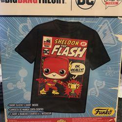 Sheldon As The Flash Funko Pop Tee Big Bang Theory T Shirt Thumbnail