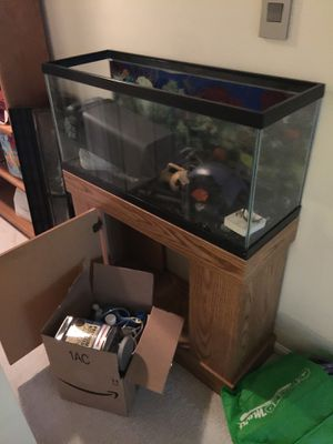 Aquarium 60 Gallon and Fluval 405 for Sale in Herndon, VA
