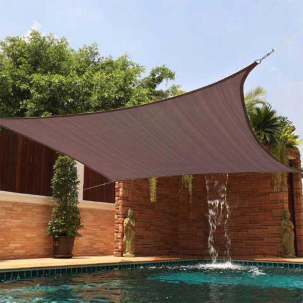 New 18x18 Outdoor Patio Sun Shade Sail Tarp Tent Canopy Gazebo Sun