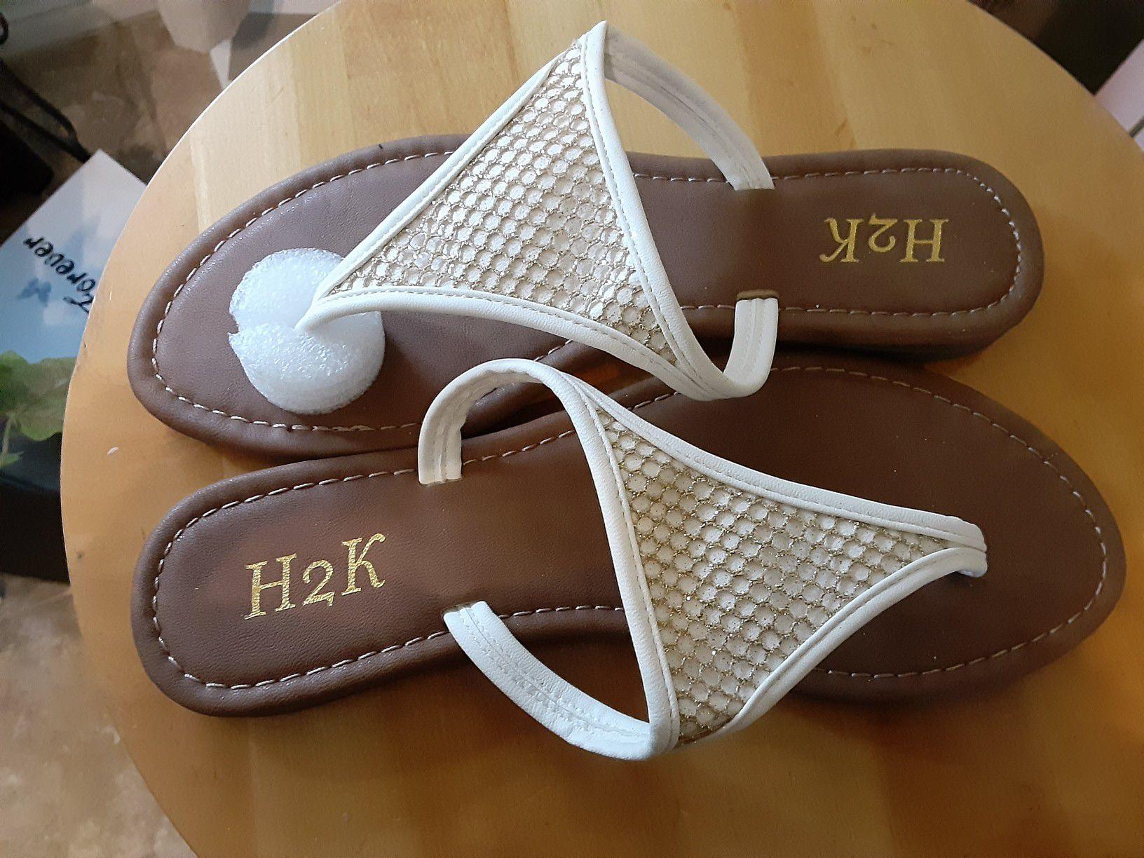 New white sandals