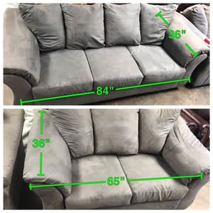 Black White Gray Sectional Couch Set Furniture In Mechanicsburg