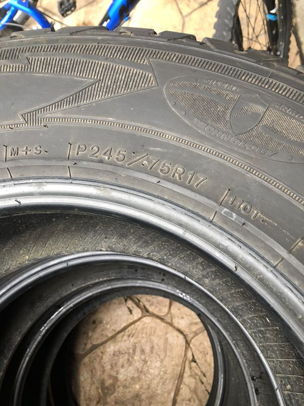 245 75 17 Goodyear Tires For Sale In Naperville Il Offerup
