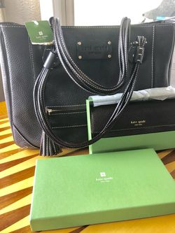 KATE SPADE ♠️ Chocolate Tote with Wallet NWT Thumbnail