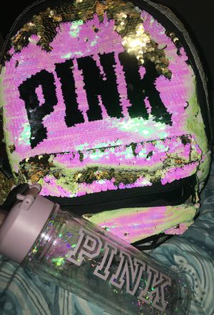 Victoria secret Pink Campus Back pack with water bottle for Sale in Washington, DC