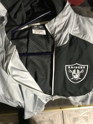 Raiders nike light jacket onfield apparel (size medium) for Sale in Los Angeles, CA