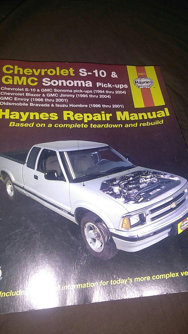 Chevrolet S 10 Gmc Sonoma Pick Up Repair Manual