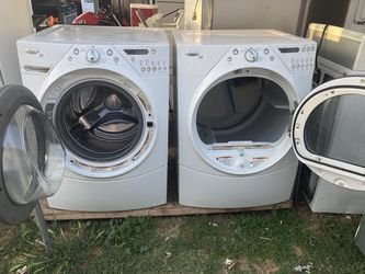 Washer And Gas Dryer Heavy Duty Brand Whirlpool Everything Works 3 Months Of Guarantee  Thumbnail