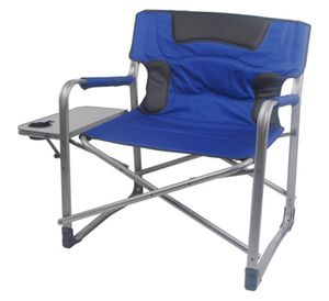 Ozark Trail XXL Folding Padded Director Chair with Side Table blue color j7-1655 for Sale in St. Louis, MO