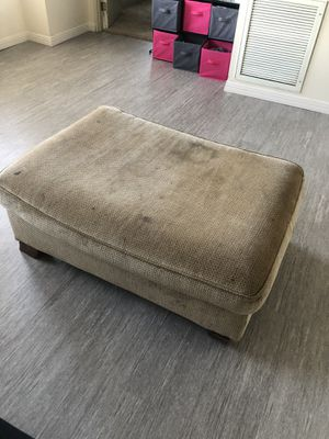 Photo Couch pull out bed (full size), chair, and ottoman with black covers all together is $175 ( will talk down) please note I have no way to transport to
