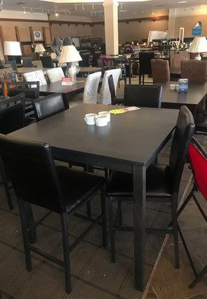 Photo Counter Height Table with 4 chairs