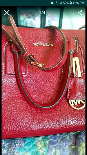 83947a87422 Red leather MK cross body purse new for Sale in Los Angeles